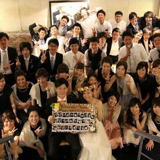 【WEDDING PARTY PLAN】結婚式2次会や各種パーティーにぴったり♪[2時間半飲放]付4000円(税込)