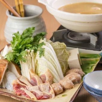 比内地鶏 水炊き鍋