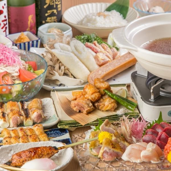 Akita boasts' specialty pot 【Special thanks to local chicken kiritanpo pot】 course <All 8 items> 5,500 yen (tax excluded)