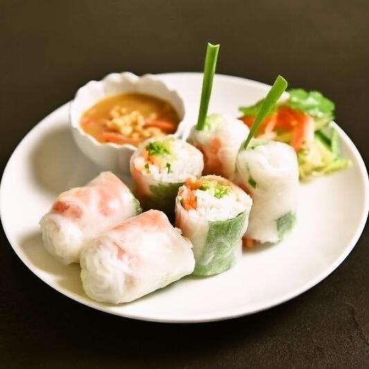 Pork & shrimp roll spring roll 2P