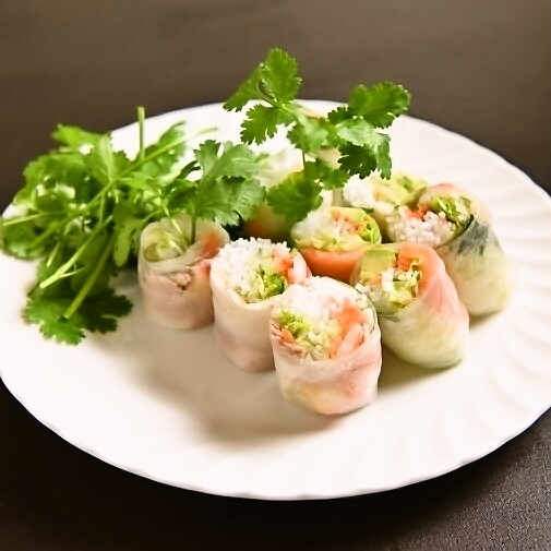 Salted spring roll with salted cheese