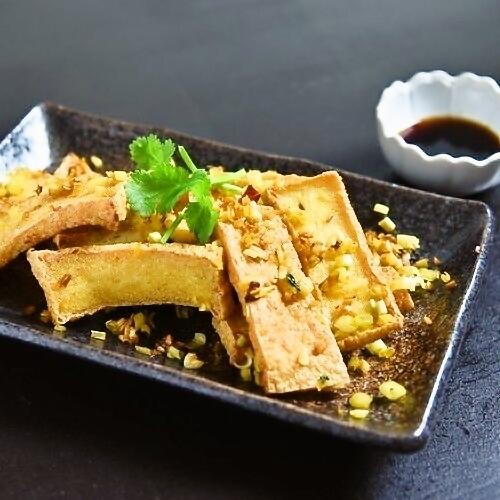 Dry fried tofu & lemon grass baked
