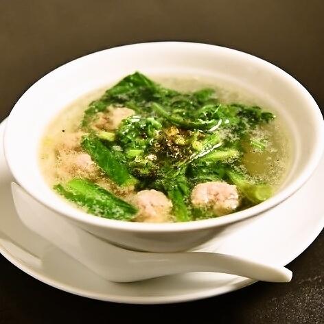 春菊&肉団子スープ