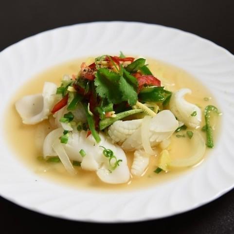 蒸魷魚和生薑