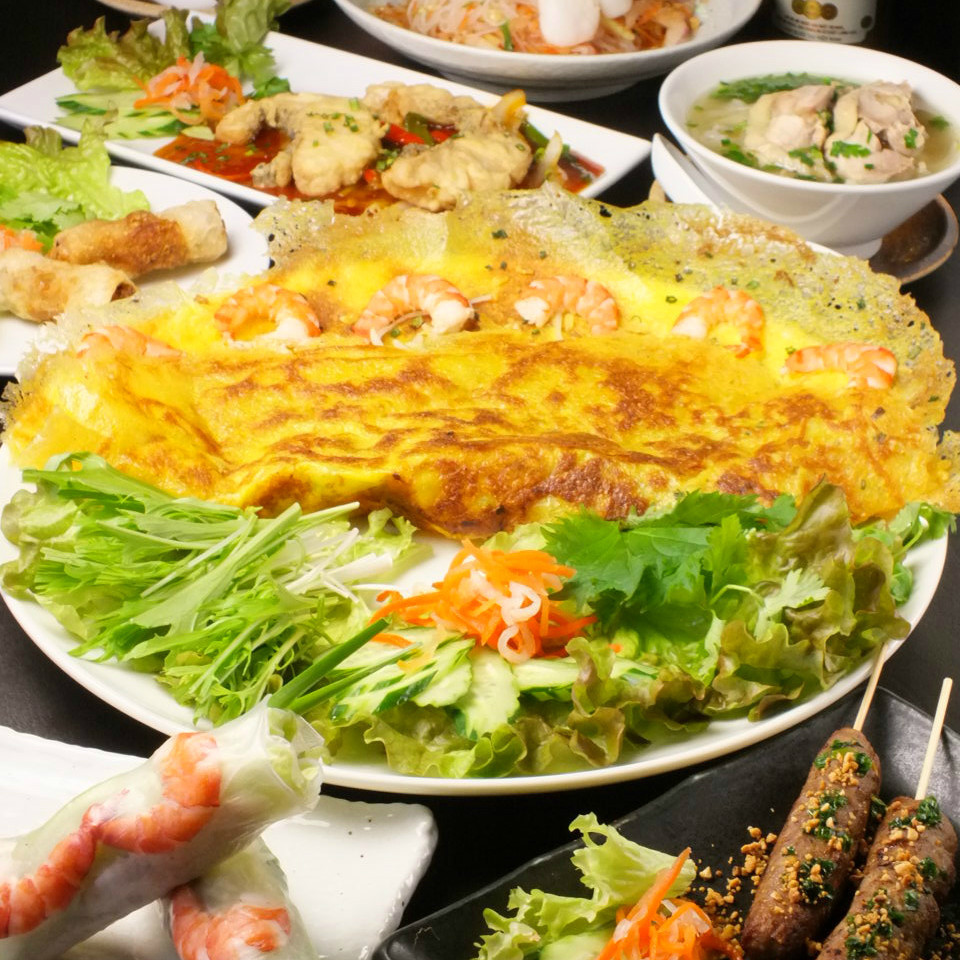 Enjoy Vietnamese cuisine! Banquet course 2650 yen tax included ~ ♪