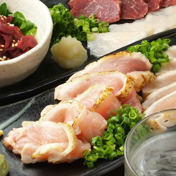 Assorted Hinata chicken Tataki