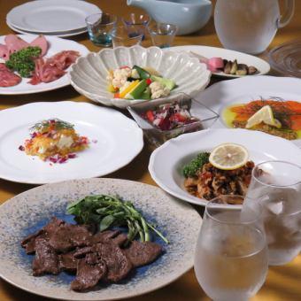 【おすすめコース】全10品 前菜・温菜・旬菜・主菜・香物等 5000円(税込)
