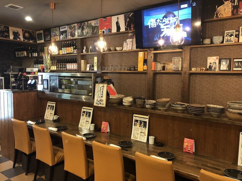 Enjoy a menu where you can eat lots of at the cozy counter seat.You can get it from standpoint after a while on business trips and gatherings ♪ Please also wait for JR and bus!