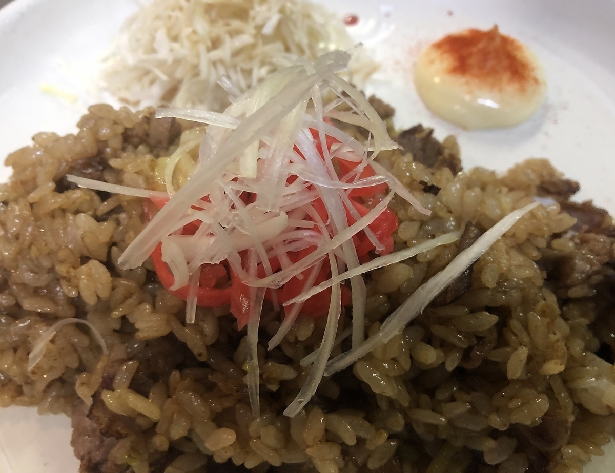 Stir-fried rice beef