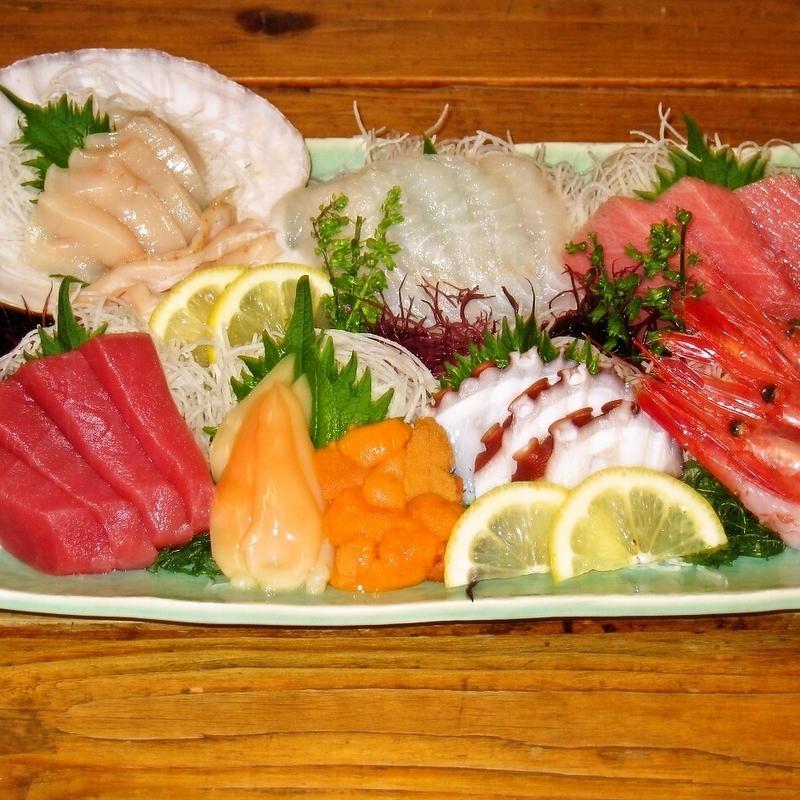 Assorted fish tiger favorable sashimi