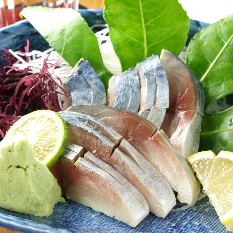 Deep mackerel sashimi