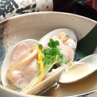 Clam liquor steamed