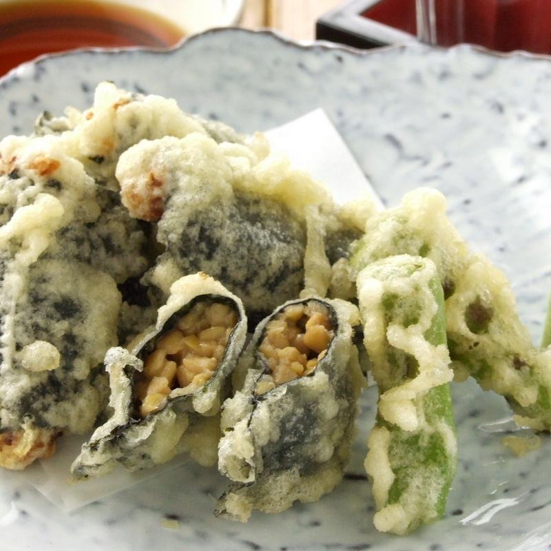 Natto tempura
