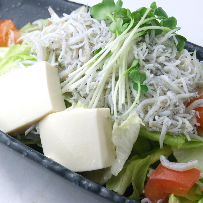 しらす豆腐サラダ