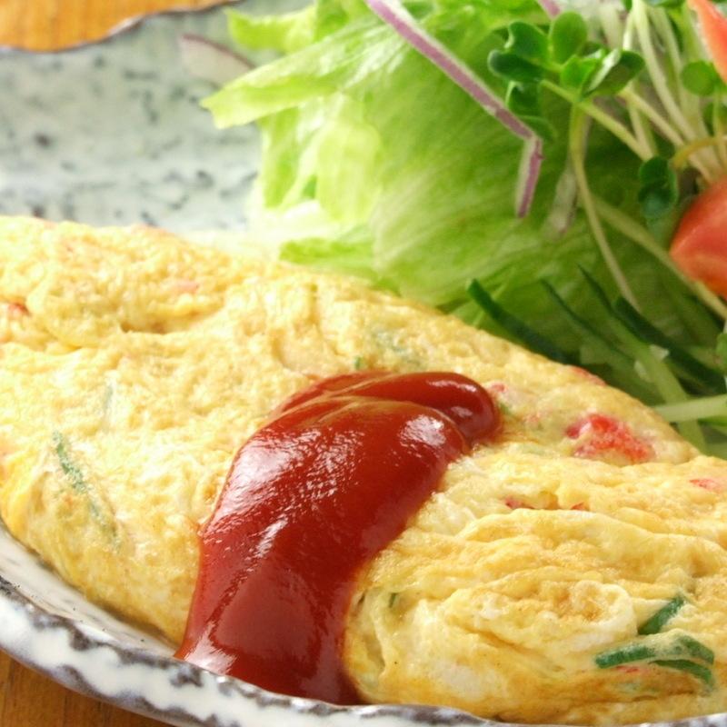 Crab ball omelet