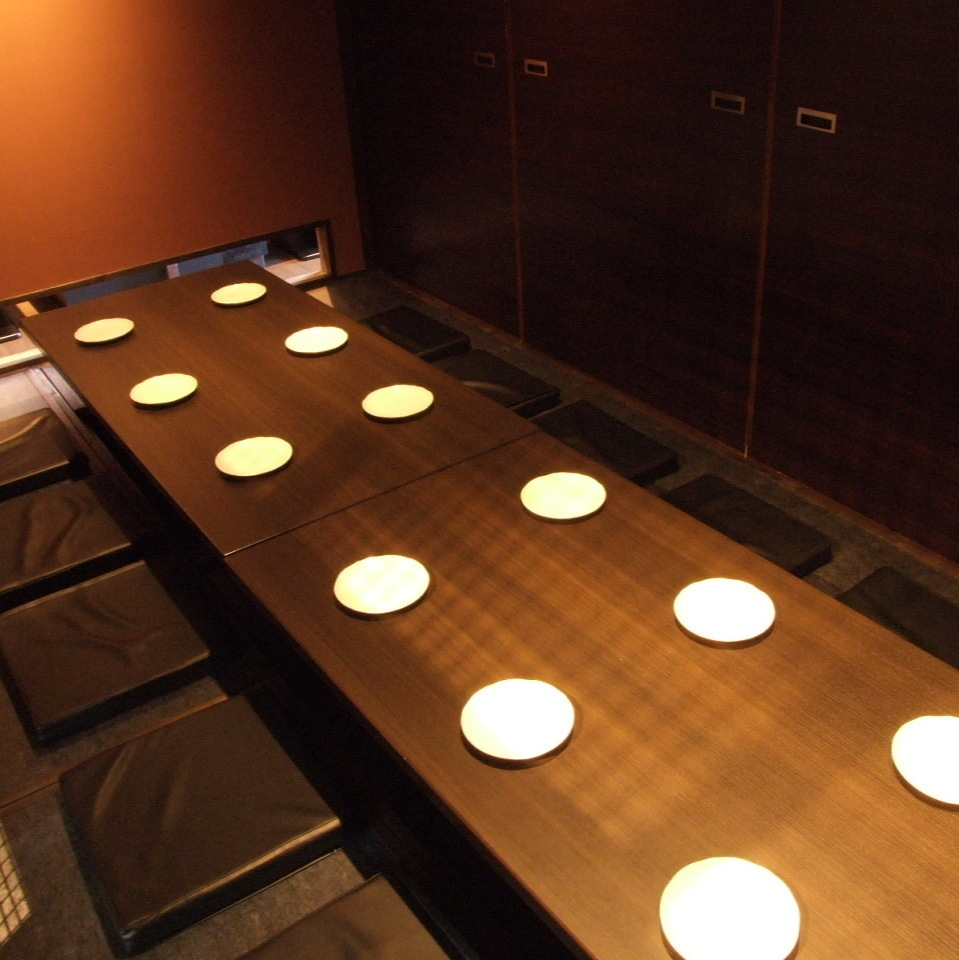 This is a private room seat of a moat ceremony for 12 people who is perfect for a group of drinking party with a slightly larger number of people.Our shop is a pub in Hiroshima Station North Exit, so even if it is a large group, the assembly / dissolution is Rakuchin.We also have a variety of drinks available, so please use it.