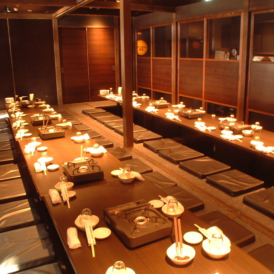This is a private room seat digging for 48 people who is perfect for drinking party at the company as well as for reunion at the alumni association.Even for 48 people you can eat and drink all you can eat and drink for 120 minutes We prepare banquet course from 2900 yen.The number of items is 200 items together with dishes and drinks! Please enjoy many Hakata cuisines by all means.