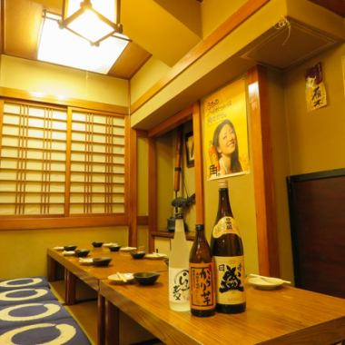【Completely private room in the cushion seat can be up to 10 people】 Recommended for small and medium sized banquets, it is possible for up to 10 guests in the Japanese style room! Because it is a complete private room, you can enjoy it slowly!