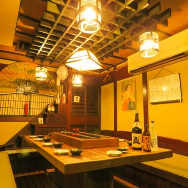 【Maximum 12 people for table seats to enclose the hearth】 Maximum of 12 people OK also recommended here for Forgotten annual · farewell party etc. It is a table seat of style that surrounds the hearth which does not look easily in other taverns!