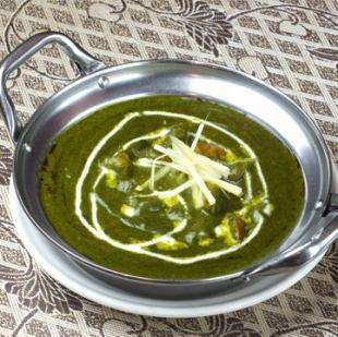 サグプラウンカレー Sag Prawn Curry