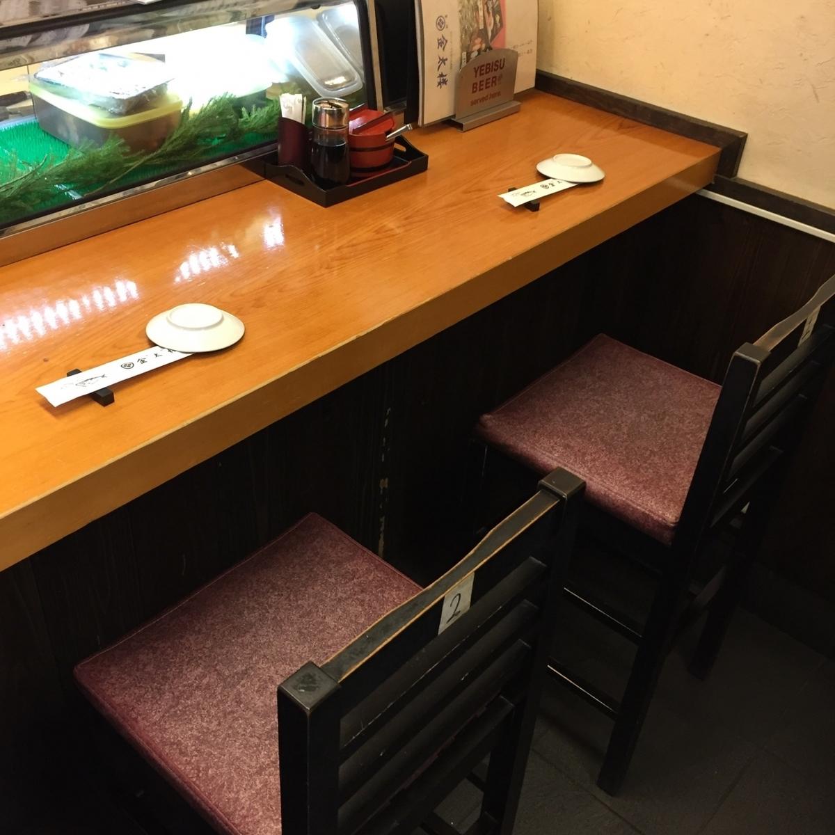 可以看到工匠手的柜台座位请务必使用预约。