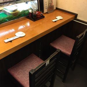 職人の手元を見れるカウンター席是非ご予約でご利用くださいませ。