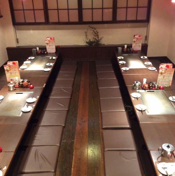30名様から貸切可能な宴会用個室!掘りごたつなので足も疲れずゆったりおくつろぎ頂けます♪美味しいお肉と新鮮な海鮮を使用した鉄板料理は自慢の一品の数々♪吉田駅周辺での飲み会は偶にお任せ★貸切、個室、宴会、家族でのお食事など、様々なシーンでお待ちしております★