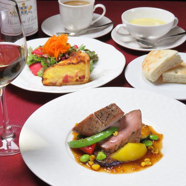【ディナーコース 全5品 2500円(税抜)~】※来店時 前菜とメイン料理をお決めください。