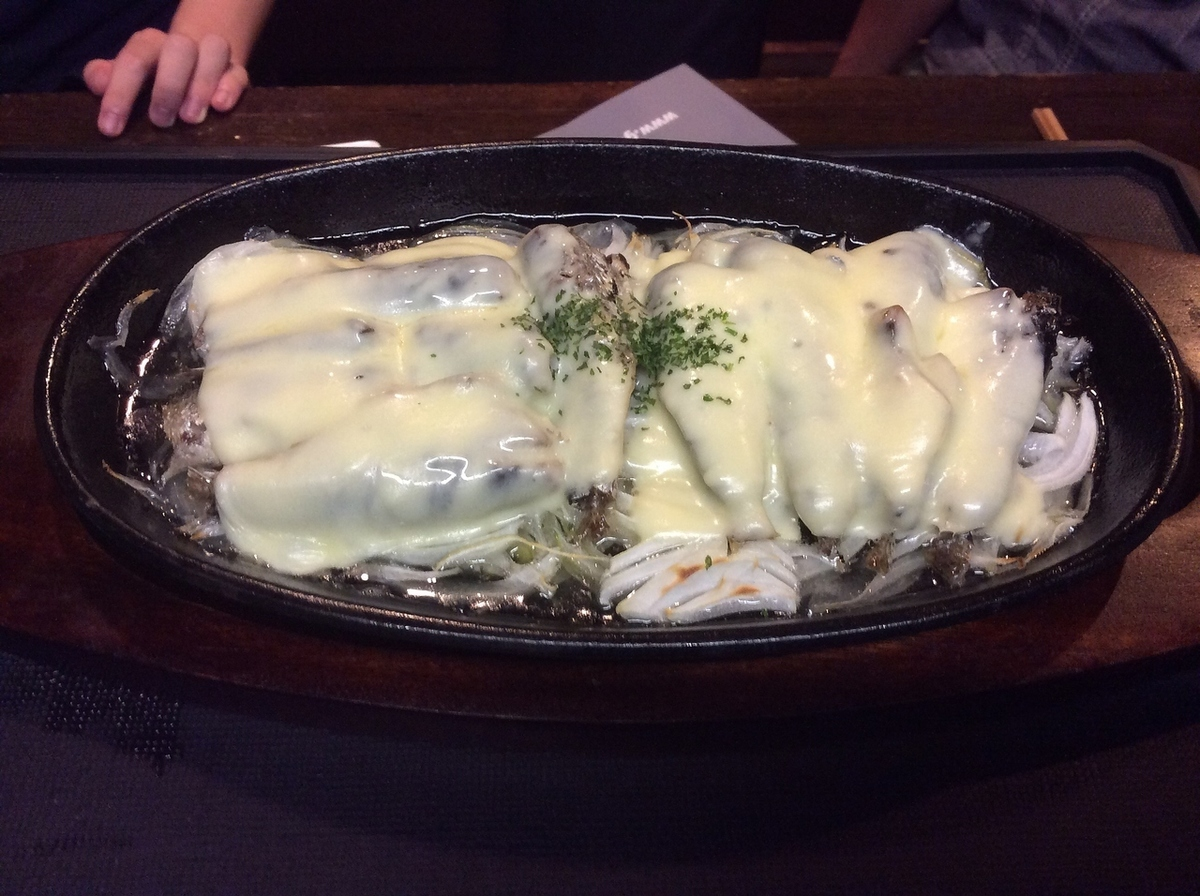 Grilled oil sardine cheese