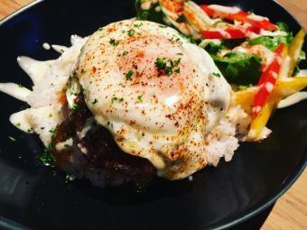 히타치 소 햄버거 hawaii 덮밥