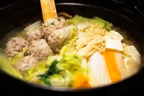Dawn pot in Japan (chicken meat and duck's pork pan)