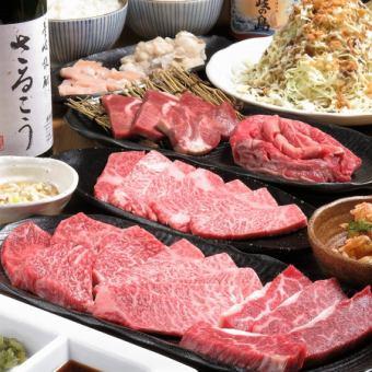 全13品 焼肉は牛肉だけ!牛だけ宴会コース(92種2H飲み放題付き)4900円