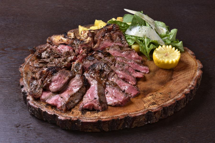 Black Angus cow's T-bone steak