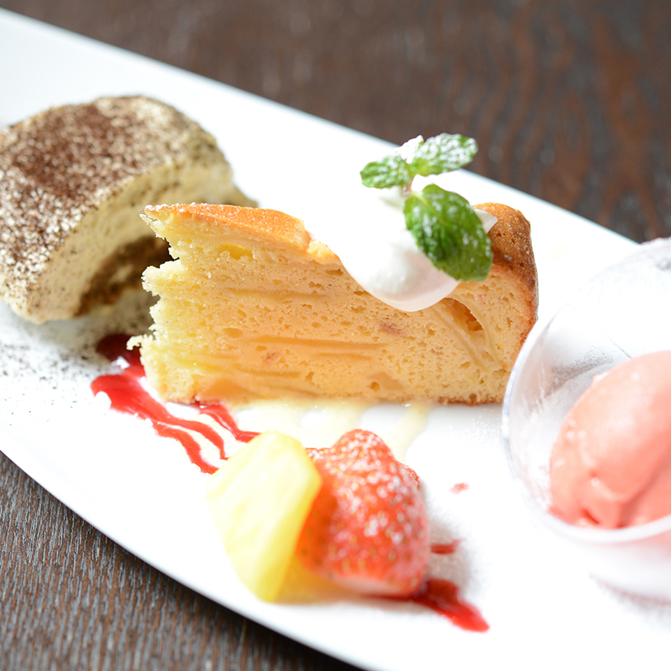 A beautiful dessert is also available ★