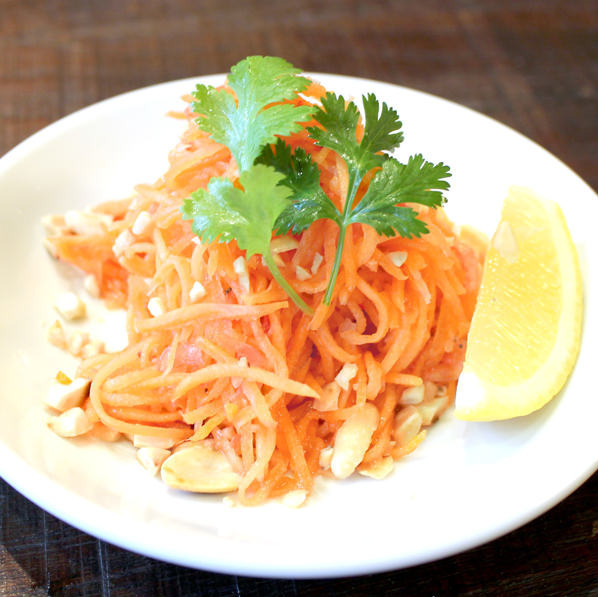 Somtum carrot (Thai salad with carrot)