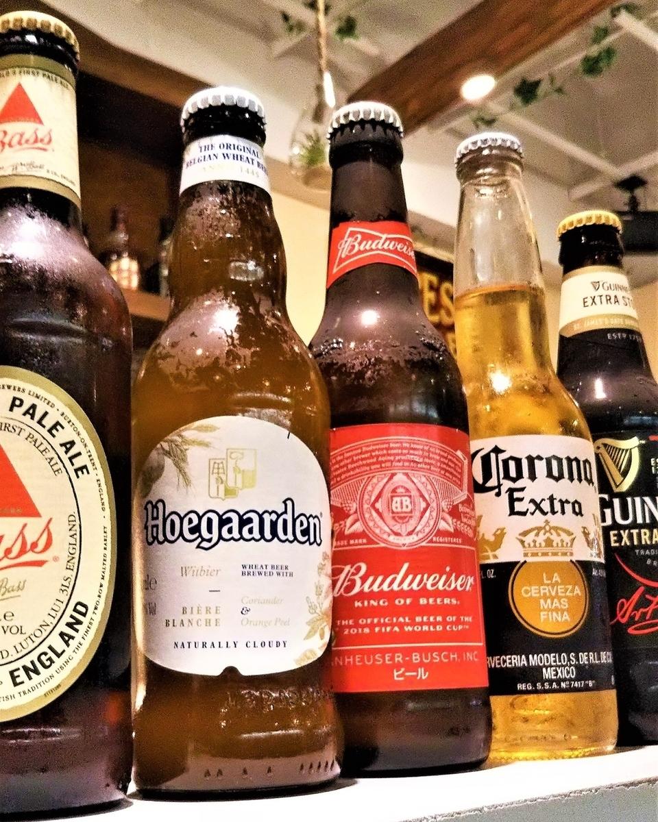 ハンバーガー×ビールが最高◎