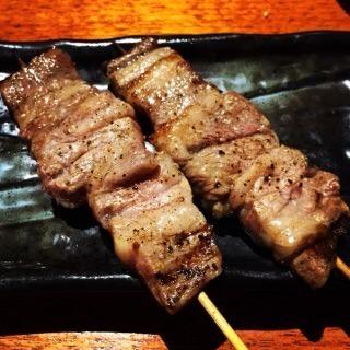 黒豚ロース(塩、タレ、黒胡椒)