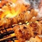薩摩赤鶏のもも串(塩、タレ、黒胡椒)