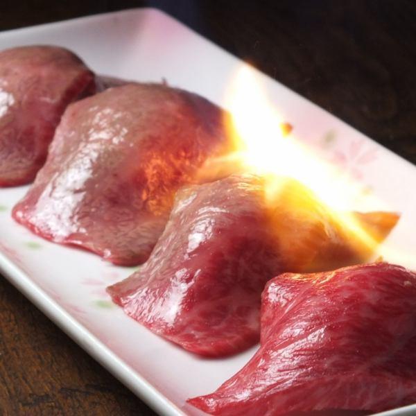 【New menu】 meat sushi