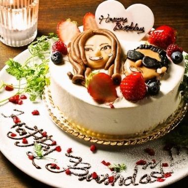 ケーキ付♪【Birthdayプラン】全8品、全80種以上のドリンク2H飲み放題!3000円 オプション多数
