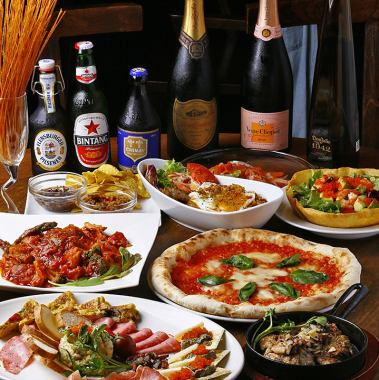 «Gokon ◎» 2 H with drink all-you-can-eat ★ Carpaccio with pizza · pasta! 7 items 3000 yen in total! 500 yen OFF on weekdays!