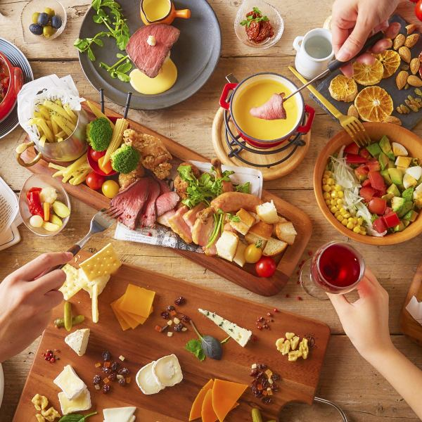 コンセプトは「お肉とチーズを美味しく食べて心も体も笑顔に」★SNS映え料理多数♪飲み放題コース3000円~