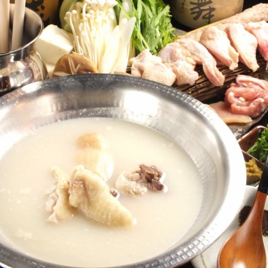【Soup is excellent! Water cooker with Awaji chicken main flavor Hakata charge】