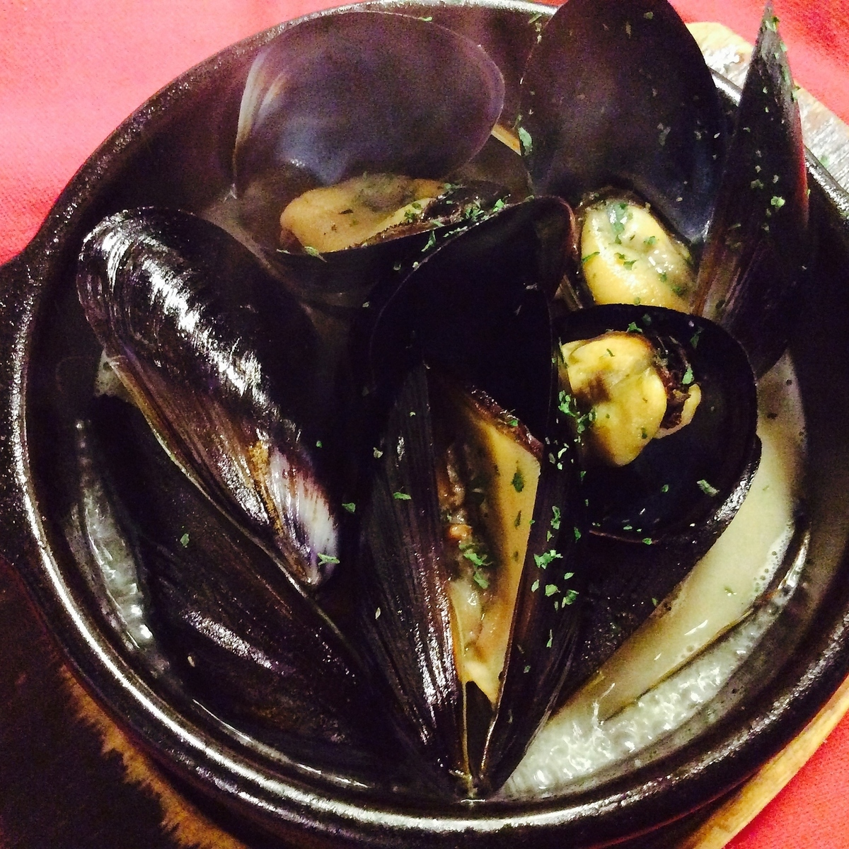 Mussels white wine steamed