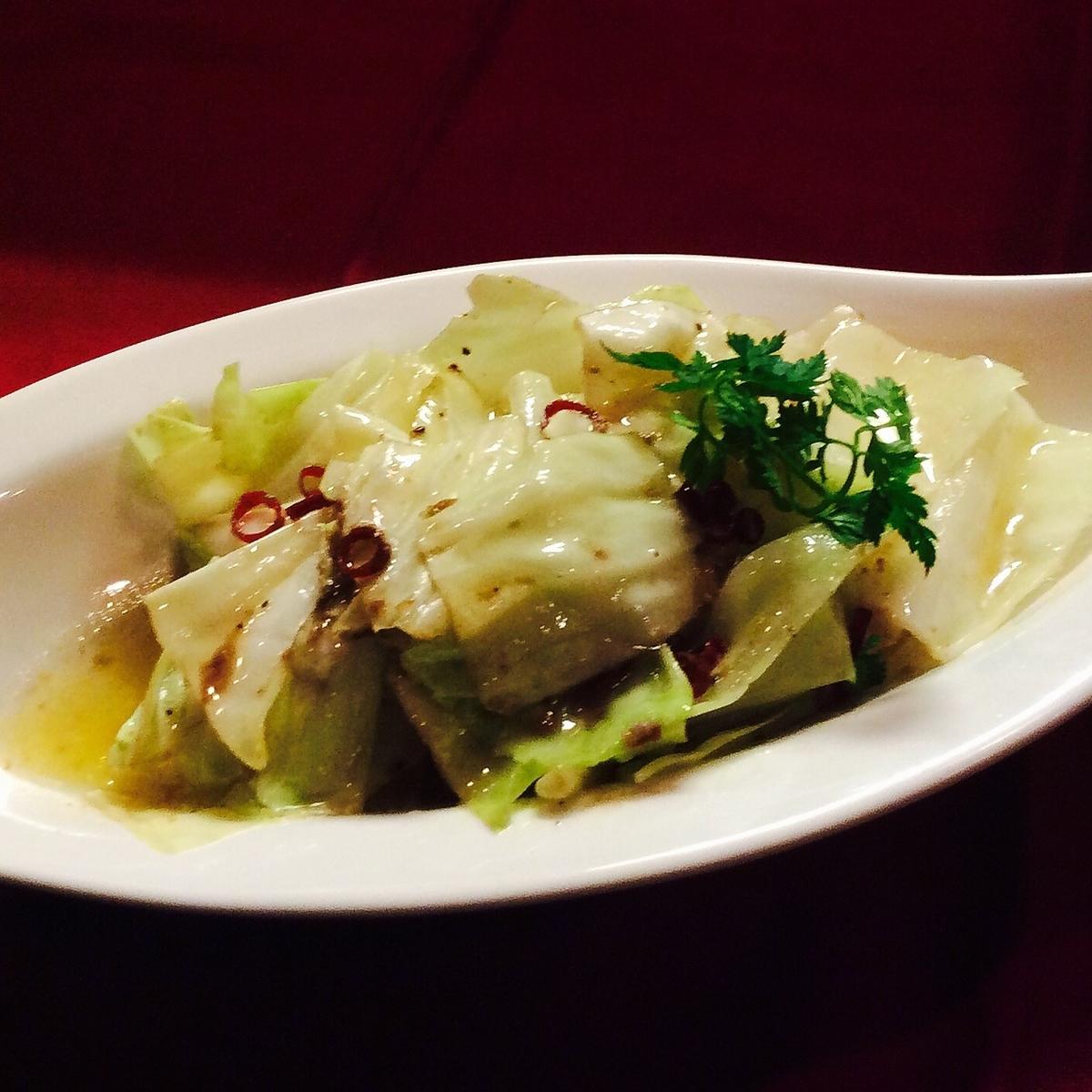 凤尾鱼卷心菜