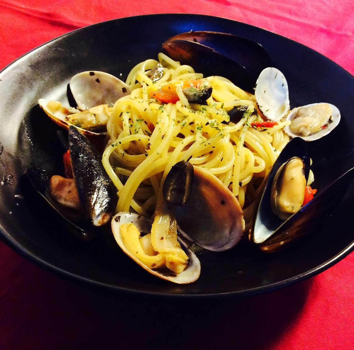 Vongole of mussels and clams