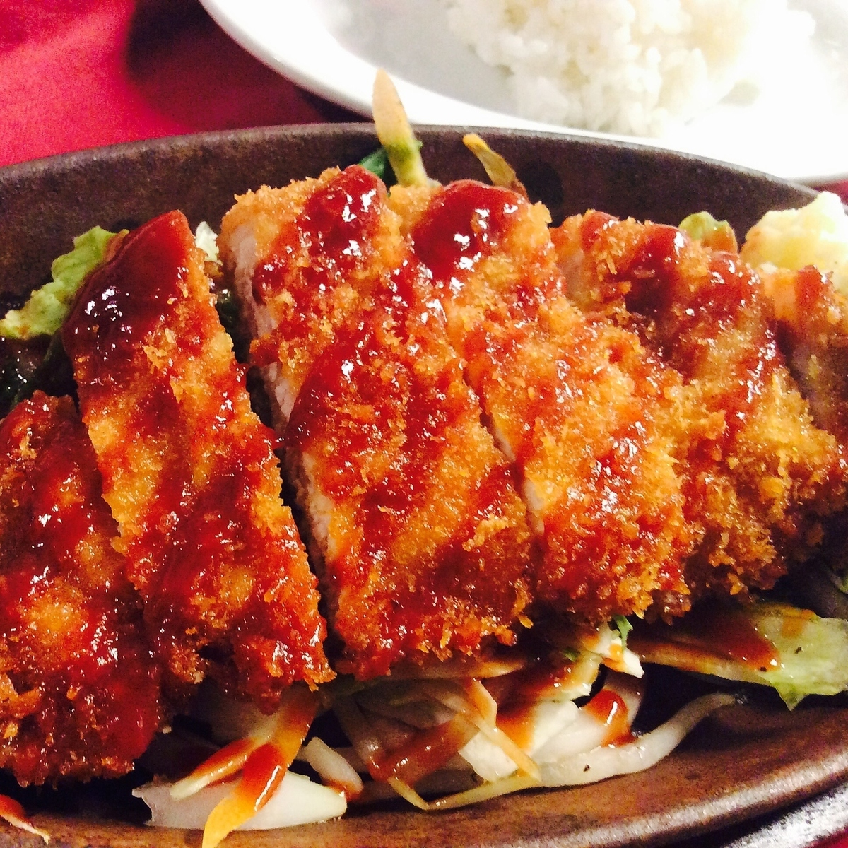 Itoshima pork cutlet steel set meal