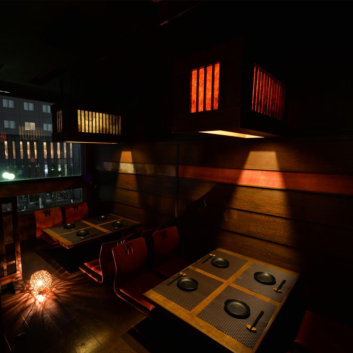 """一個充滿日本情感的私人房間。♪還可以用於娛樂和家庭聚餐♪在一個重要的周年紀念日,你是否願意感謝""""謝謝""""和""""祝賀""""的主角?在我們的商店,我們將提供一個帶有消息的甜點盤♪【Tenmonkan·居酒屋·小屋·包房·當地美食】"""