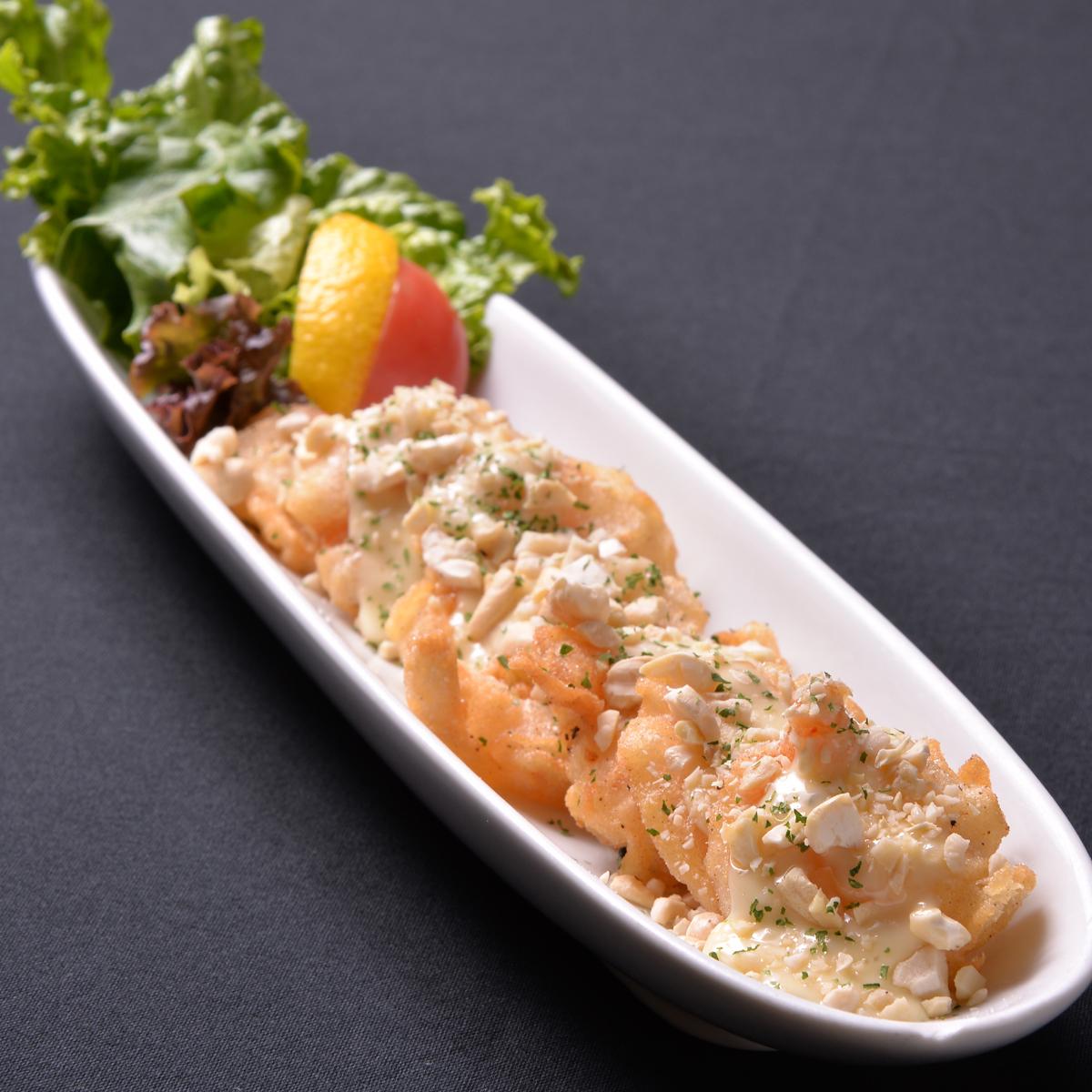 蝦仁脆皮堅果Tal蛋黃醬