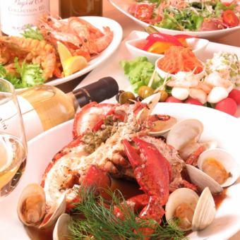 拼盘和做华丽的虾虾Daiaka涮锅豪华当然!当然,龙虾!